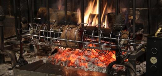 Filet de boeuf au poivre à la broche